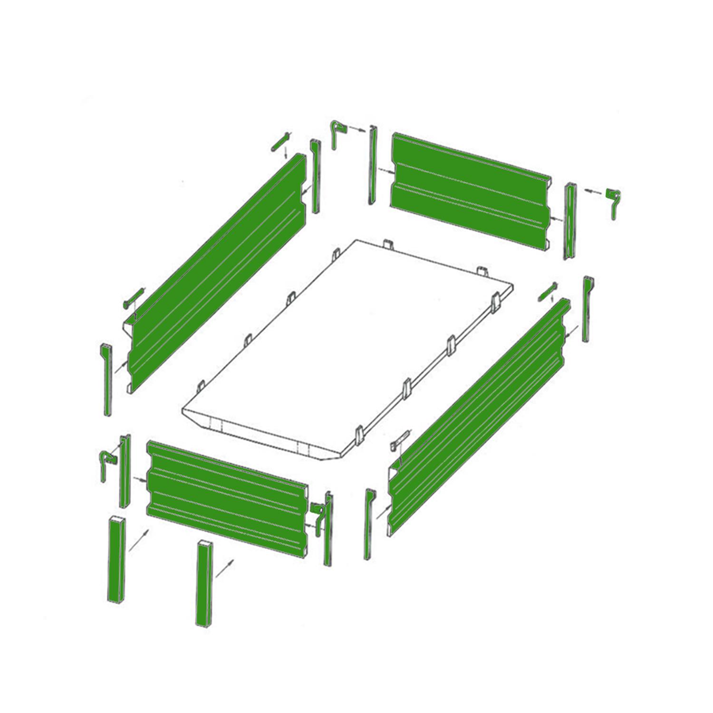 grundbordwand ohne eckrungen 400 mm 2000 x 4000 mm ebay. Black Bedroom Furniture Sets. Home Design Ideas